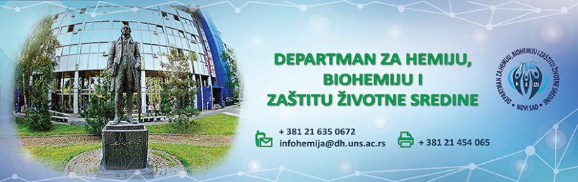 Departman za hemiju, biohemiju i zaštitu životne sredine - PMF Novi Sad